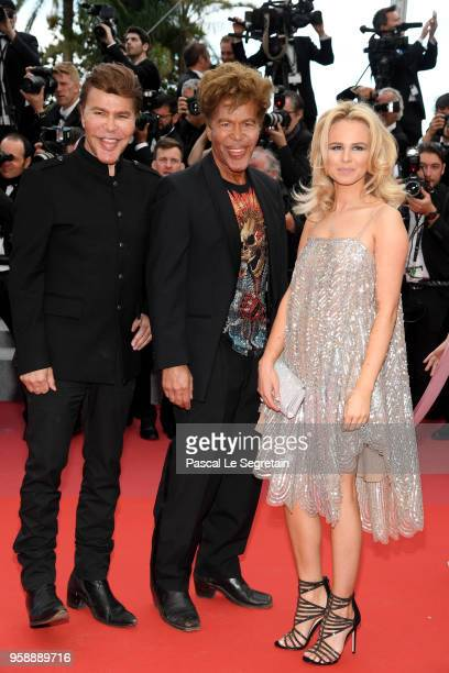 Grichka Bogdanoff Igor Bogdanoff and Julie Jardon attend the screening of Solo A Star Wars Story during the 71st annual Cannes Film Festival at...