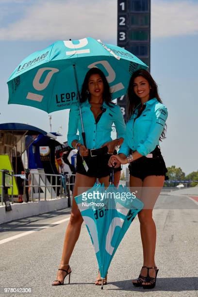 Grid girl during the free practice of the Gran Premi Monster Energy de Catalunya Circuit of Catalunya Montmelo SpainOn 16 june of 2018