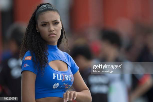 Grid girl in pit during the MotoGP of Japan - Race at Twin Ring Motegi on October 20, 2019 in Motegi, Japan.