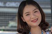 buri ram thailand grid girl smiles