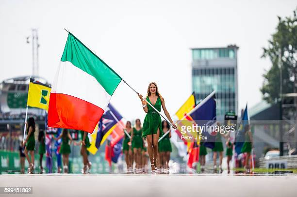 Grid Girls during the Formula One Grand Prix of Italy at Autodromo di Monza on September 4 2016 in Monza Italy