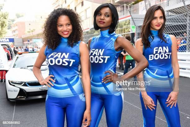 Grid girls Sebastien Buemi of Swizerland during the Grand Prix of Monaco on May 13 2017 in Monaco Monaco