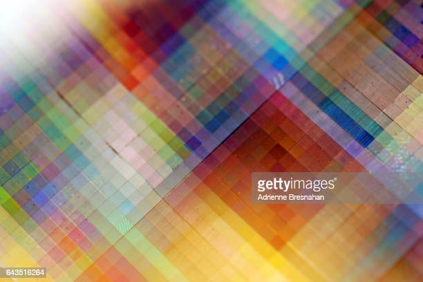 Grid Shaped Pattern on Holographic Paper
