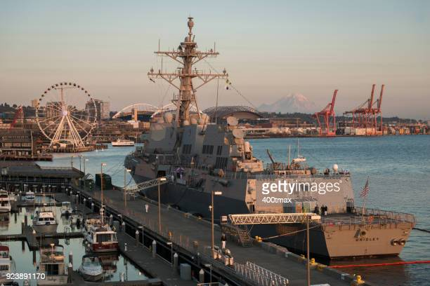uss gridley - fleet week stock photos and pictures