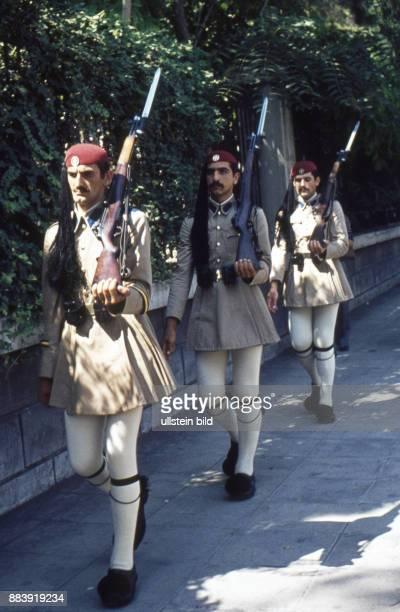 Griechenland Soldaten Wachablösung