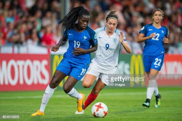 Griedge Mbock Bathy Nka of France women Jodie Taylor of England women during the UEFA WEURO 2017 quarter finale match between England and France at...