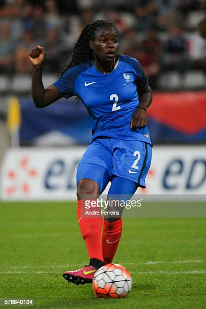 Griedge Mbock Bathy of France during Female International friendly match between France and China at Stade Charlety on July 16 in Paris France