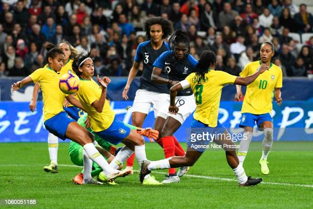 Griedge Mbock Bathy of France during the International Women match between France and Brazil at Allianz Riviera Stadium on November 10 2018 in Nice...