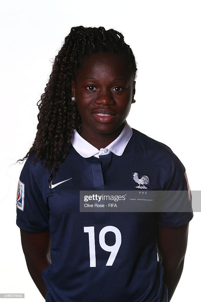 Griedge Mbock Bathy of France poses during a FIFA Women's World Cup portrait session on June 6, 2015 in Moncton, Canada.