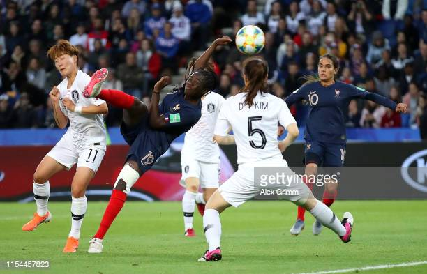Griedge Mbock Bathy of France scores her team's second goal which is disallowed for offside following a VAR check during the 2019 FIFA Women's World...