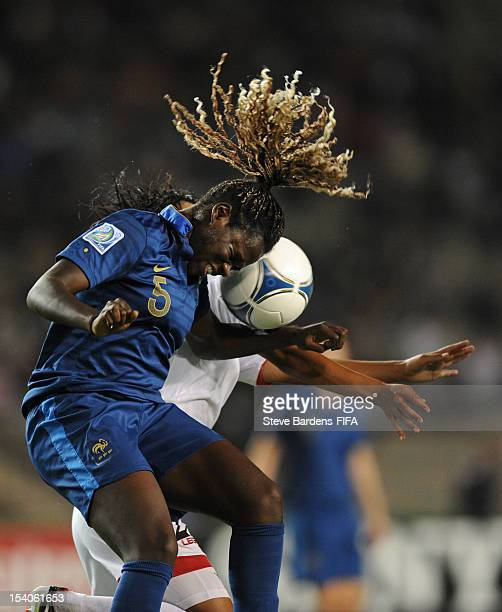 Griedge MbockBathy of France heads the ball clear during the FIFA U17 Women's World Cup 2012 Final between France and Korea DPR at the Tofig Bahramov...