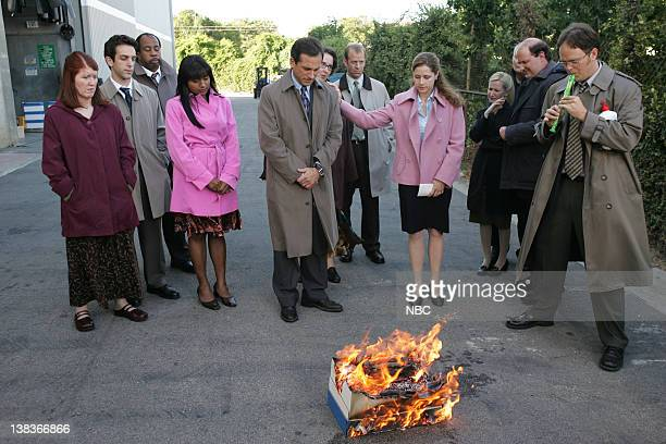 THE OFFICE Grief Counseling Episode 4 Aired 10/12/06 Pictured Kate Flannery as Meredith Palmer BJ Novak as Ryan Howard Leslie David Baker as Stanley...