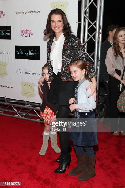 Grier Hammond Henchy mother Brooke Shields and Rowan Francis Henchy attend the premiere of The Greening of Whitney Brown at the AMC Loews Lincoln...