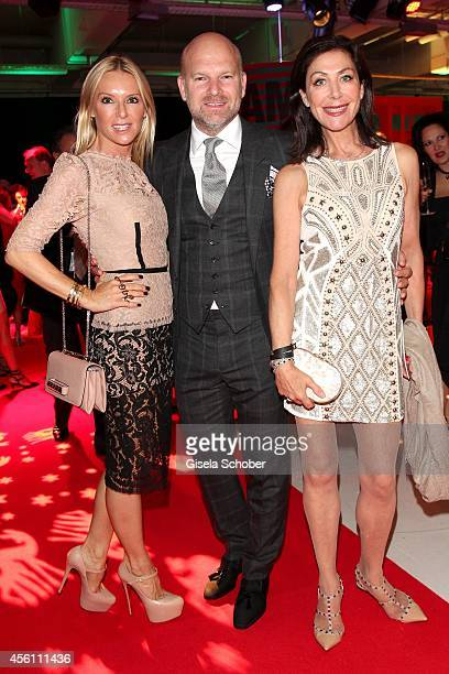 Gries Deco Company GmbH Christian Gries his wife Sandra and Alexandra von Rehlingen arrive at Tribute To Bambi 2014 at Station on September 25 2014...