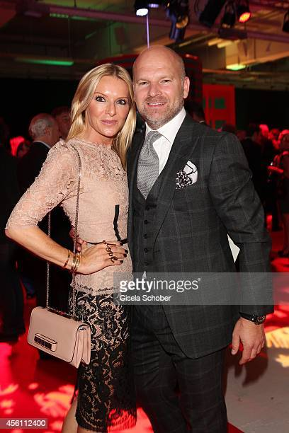 Gries Deco Company GmbH Christian Gries his wife Sandra arrive at Tribute To Bambi 2014 at Station on September 25 2014 in Berlin Germany