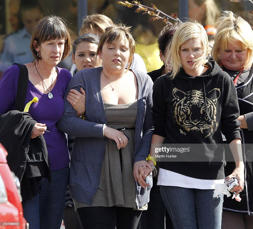 Grieving family members show their emotion after being told that a second explosion occured in the Pike River Coal Mine on November 24, 2010 in Greymouth, New Zealand. Families were informed there would be no survivors after a second blast occurred at the Pike River mine where 29 miners were trapped following an initial blast on November 19. Safety and rescue crews were on standby for days waiting for safe air and gas levels to commence a rescue mission. Two Australians, two Britons, and a South African were amongst the New Zealand mine crew trapped in the mine 50 kilometers north of Greymouth on New Zealand's west coast.