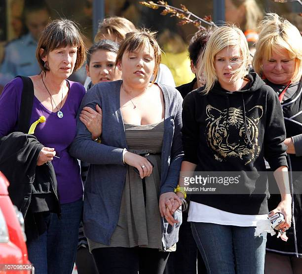 Grieving family members show their emotion after being told that a second explosion occured in the Pike River Coal Mine on November 24, 2010 in...