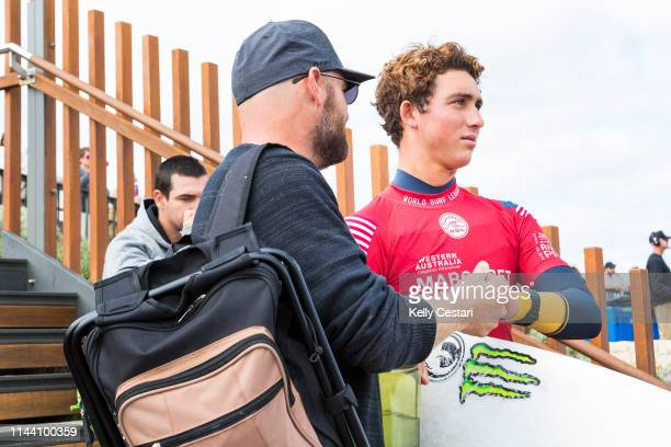 Griffin Colapinto is eliminated from the 2018 Margaret River Pro after placing second in Heat 7 of Round 2 at Main Break Margaret River WA Australia