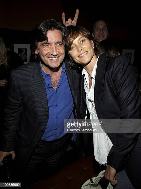 Griffin Dunn and Carey Lowell during 4th Annual Tribeca Film Festival Fierce People After Party at Tribeca Cinemas in New York City New York United...