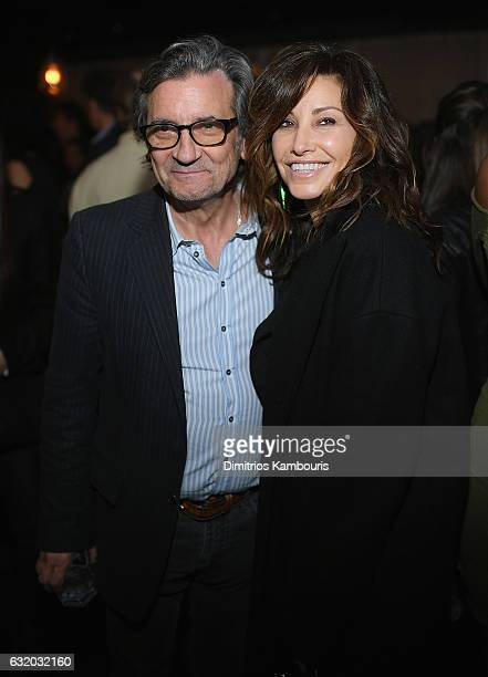 Griffin Dunne and Gina Gershon attend The Weinstein Company with Grey Goose after party for 'The Founder' at The Roxy Hotel on January 18 2017 in New...