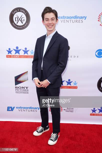 Griffin Gluck attends the 7th Annual Ed Asner And Friends Poker Tournament Celebrity Night at CBS Studios - Radford on June 01, 2019 in Studio City,...