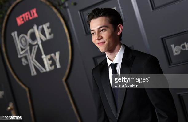 Griffin Gluck attends the Locke Key Los Angeles Premiere at the Egyptian Theatre on February 05 2020 in Hollywood California