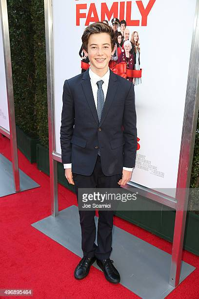 Griffin Gluck attends the Love The Coopers Holiday Luncheon Benefiting The LA Regional Food Bank at The Grove on November 12 2015 in Los Angeles...