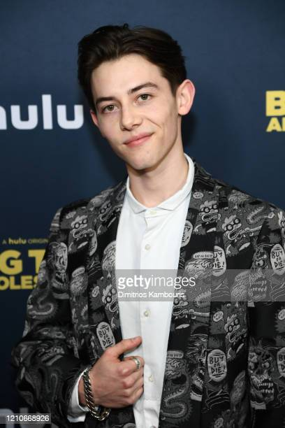 "Griffin Gluck attends the premiere of ""Big Time Adolescence"" at Metrograph on March 05, 2020 in New York City."