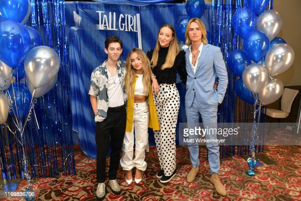 "Griffin Gluck, Sabrina Carpenter, Ava Michelle and Luke Eisner attend the Photo Call for Netflix's ""Tall Girl"" at the Beverly Wilshire Four Seasons..."
