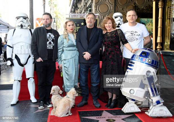 Griffin Hamill Chelsea Hamill Mark Hamill Marilou York and Nathan Hamill attend as Mark Hamill is honored with a star on the Hollywood Walk of Fame...
