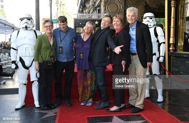 Griffin Hamill Chelsea Hamill Mark Hamill Marilou York and Nathan Hamill attend as Mark Hamill Honored With Star On The Hollywood Walk Of Fame on...