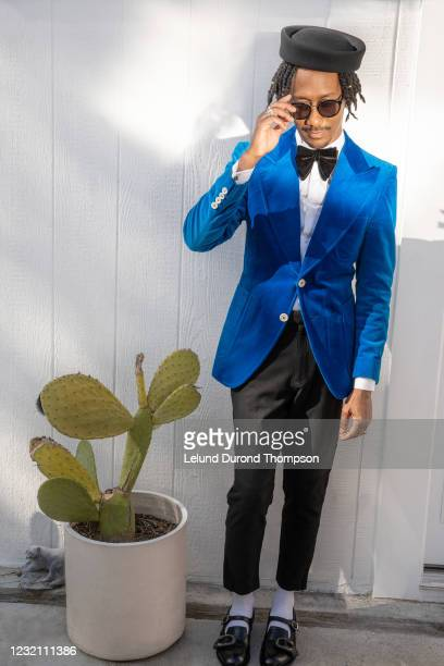 Griffin Matthews is seen in his award show look for the 27th Annual Screen Actors Guild Awards on March 31, 2021 in Los Angeles, California. Due to...