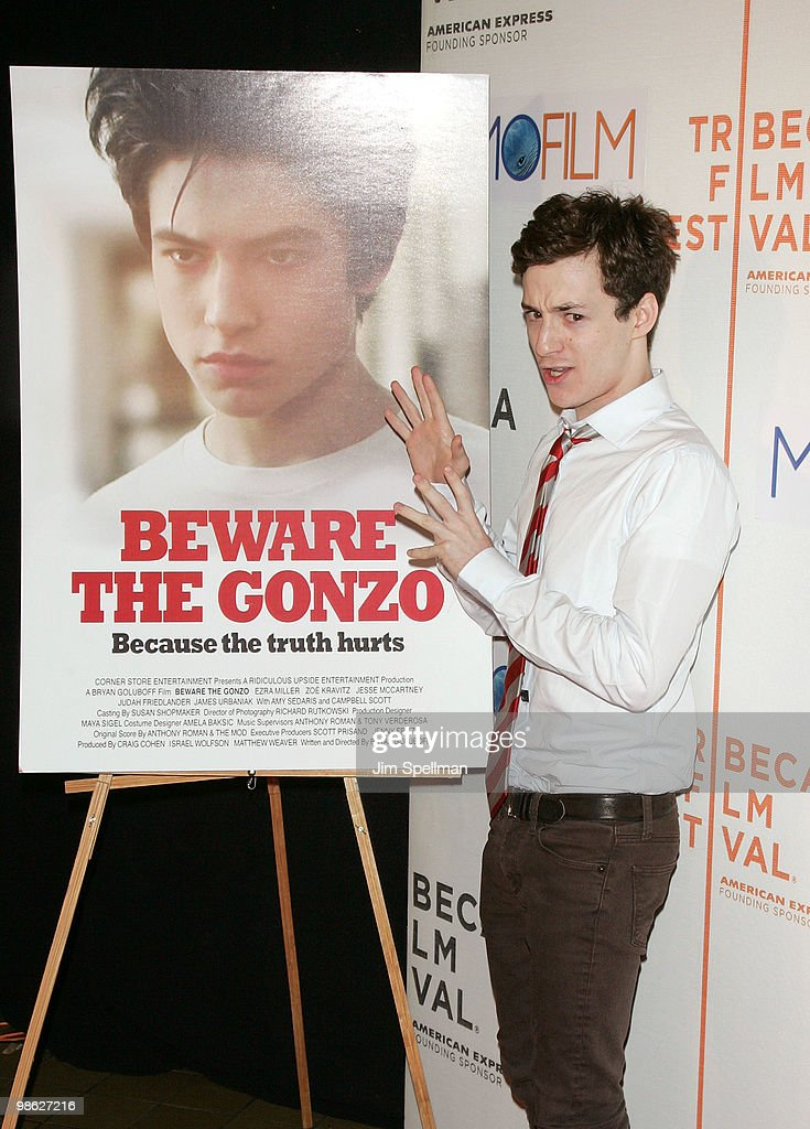 Griffin Newman attends the premiere of 'Beware The Gonzo' during the 9th annual Tribeca Film Festival at the Tribeca Performing Arts Center on April 22, 2010 in New York City.