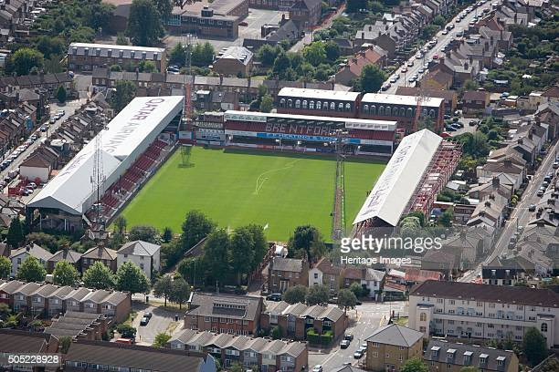 Griffin Park Stadium, Brentford, 2006. Aerial view of the home of Brentford Football Club The Bees since 1904. Artist: Historic England Staff...
