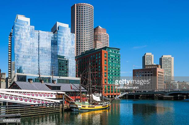 griffin's wharf - boston tea party stock photos and pictures