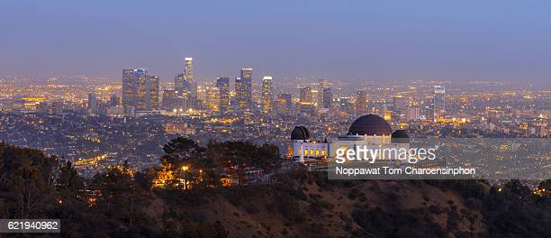 Griffith Observatory and Downtown Los Angeles, USA
