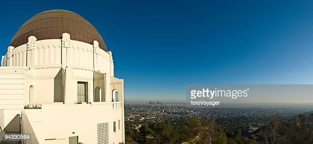 griffith observatory and downtown la - griffith park stock pictures, royalty-free photos & images