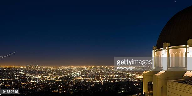 griffith observatory cityscape, la - griffith park stock pictures, royalty-free photos & images