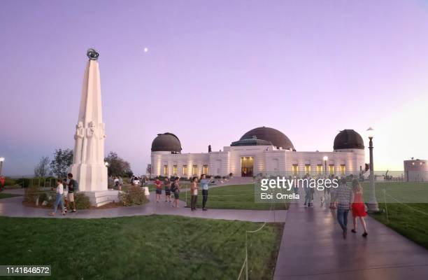 griffith park observatory at dawn, los angeles. usa - griffith park stock pictures, royalty-free photos & images