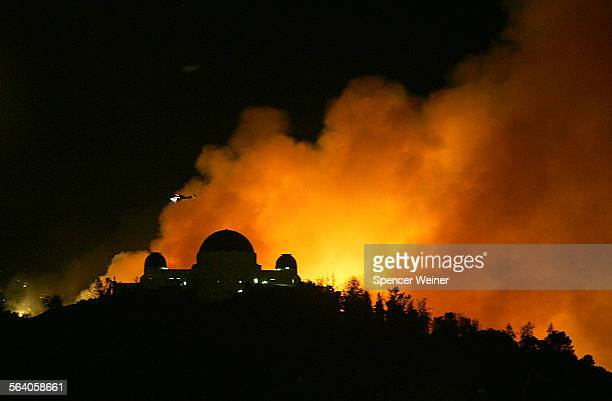Griffith Park Observatory visible as flames approach The fire has forced evacuation of residences of several neighborhoods surrounding Griffith Park...