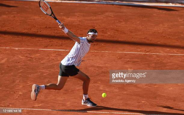 Grigor Dimitrov and Dominic Thiem compete in last day of Serbian leg of Adria Tour a charity exhibition hosted by Novak Djokovic Foundation Serbia...