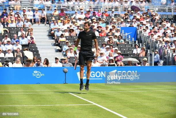 Grigor Dimitrov beats Ryan Harrison in the first round of AEGON Championships at Queen's Club London on June 18 2017