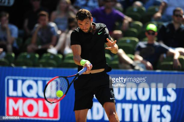 Grigor Dimitrov during a match against Jerzy Janowicz in the round of eight of the Mercedes Cup in Stuttgart Germany on June 15 2017
