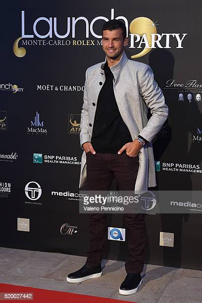 Grigor Dimitrov of Bulgaria attends the Launch Party at Zelo's Monaco during preview day of the ATP Monte Carlo Masters at the MonteCarlo Country...
