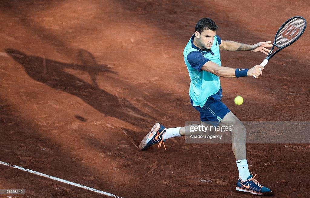 Grigor Dimitrov vs Andrey Golubev: TEB BNP Paribas Istanbul Open 2015 : News Photo