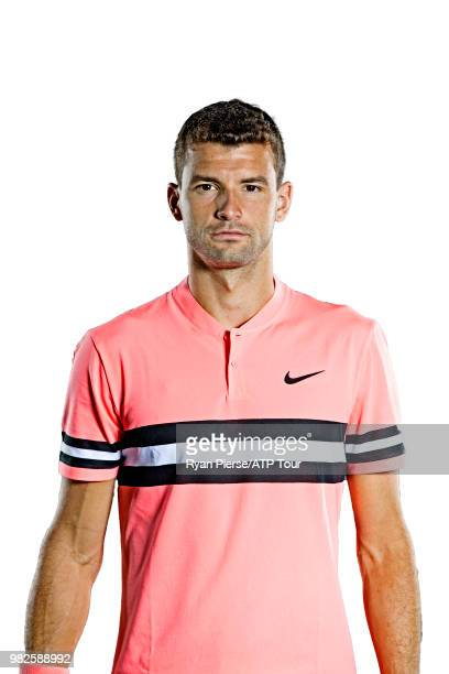 Grigor Dimitrov of Bulgaria poses for portraits during the Australian Open at Melbourne Park on January 13 2018 in Melbourne Australia