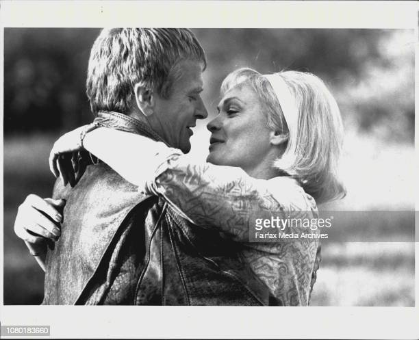 Grigor Taylor as Mike O'Brien and Rowena Wallace as Elaine Seymour in Channel nines All The Way April 17 1988
