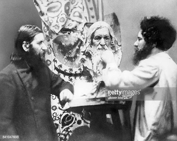 Grigori Rasputin *22101869 monk faith healer Russia posing for a portrait bust in St Petersburg Russia no date