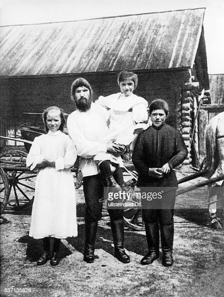 Grigori Rasputin monk faith healer Russia with his three children