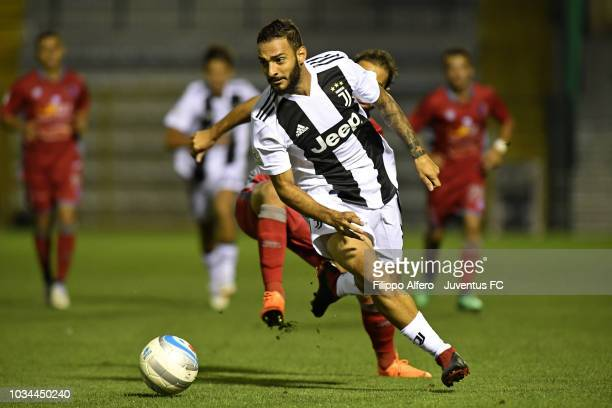 Grigoris Kastanos of Juventus during the Serie C match between Juventus U23 and Alessandria at on September 16 2018 in Alessandria Italy